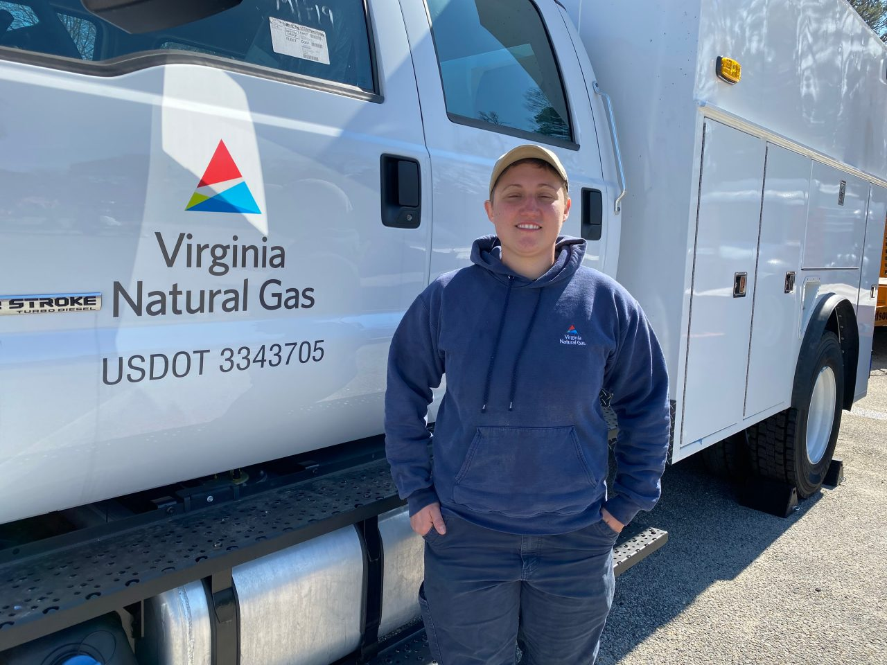 "Catherine ""Cat"" Kinyk is a utility mechanic with Virginia Natural Gas"